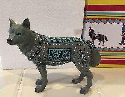 Call of the Wolf Aztec Wolf Westland figurine MIB