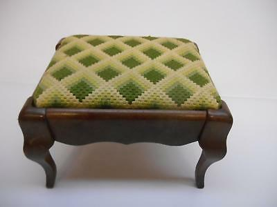 Antique SUDBERRY HOUSE WOOD OTTOMAN FOOT STOOL Furniture Old Vtg Footstool