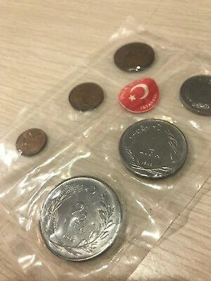 Lot of 6 Various Coins from Istanbul TURKEY