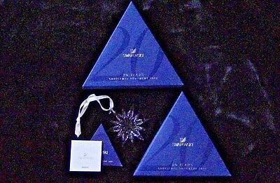 Swarovski Annual Edition 2011 Large Star Snowflake Christmas Crystal Ornament