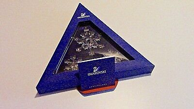 Set 3 Swarovski Annual Edition 2004 Star Snowflake Crystal Christmas Ornaments