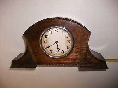 1930's Oak Art Deco Mantel Clock