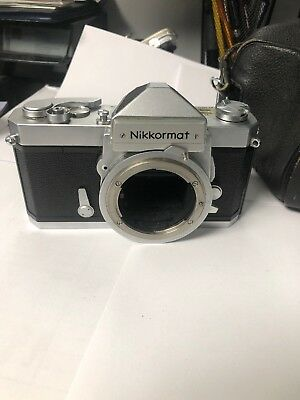 [Near MINT Meter Works!!] Nikon Nikkormat FTN Black Body ONLY! w/Case And 55 Mm
