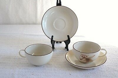 Winfield Hand Crafted China - PASSION FLOWER - Coffee Cups & Saucers (2 ea)