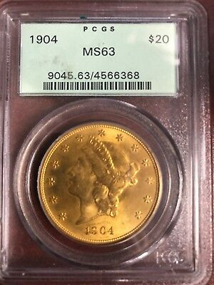 1904 $20Double EaglePCGS MS63