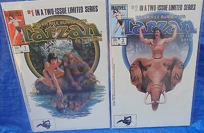 Marvel Comics Tarzan Of The Apes Complete Limited Series Set Lot # 1 & 2 1984