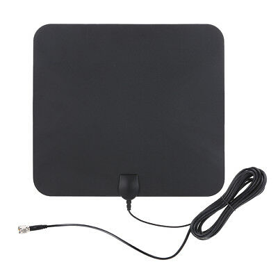 Super Thin Indoor Digital HD TV HDTV Antenna VHF/UHF TV Signal 25 Miles S9C0