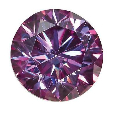 1 Rond Brillant Moissanite Chic Violet 6.5mm Diamètre 1.00 Carats Pierre
