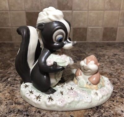 LENOX CLASSICS Skunk  FLOWER'S FOREST FRIEND from Disney Showcase Collection 24k