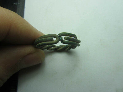 Ancient bronze ring.Metal detector finds  100% original