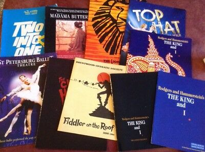 JOB LOT OF  10 x  VINTAGE STAGE THEATRE PROGRAMMES (F)