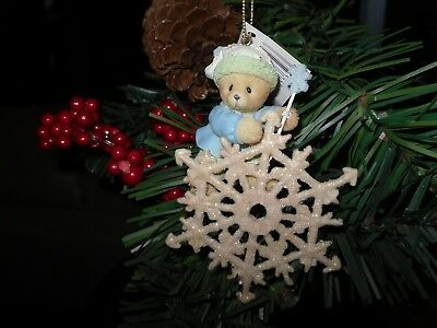 Cherished Teddies ornament Bear with snowflake/ wand Item # 4005484