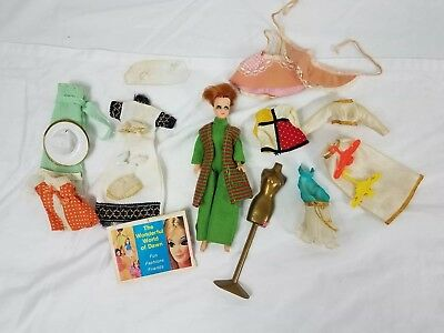 Vintage Topper Dawn Redhead Doll With Clothes