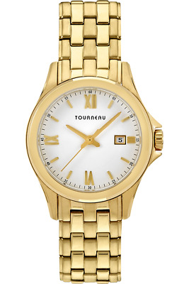 a3c5c4b590b TOURNEAU TLRBW067 Gold Tone Stainless Steel Date White Dial Women s Watch