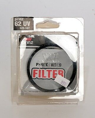 62mm UV filter by Prinz  - NEW