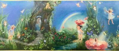Fantasy Forest with Fairies Childrens wallpaper Border Wall Decor Design Dados