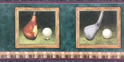 Golf Themed Den border or friez great for man cave or study