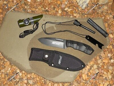 M-tech Knife/Bowie/Full tang/Compass/Flint/LED Light/Combat/Survival kit/Tools