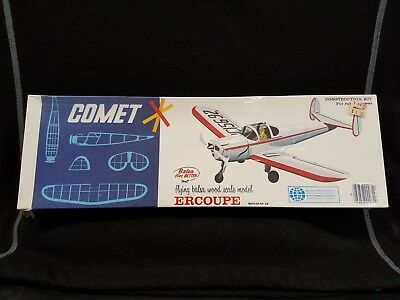 "Comet Flying Balsa Wood Model ERCOUPE ""Rubber Power"" #3407 ©197X? - SEALED!!"