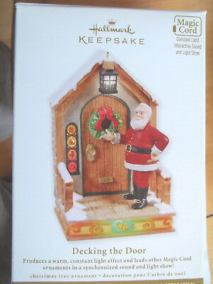 DECKING THE DOOR,Yr 2011 Hallmark Ornament,LIGHT & SOUND,Requires Magic Cord