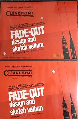 Clearprint Fade Out Design And Sketch Vellum 50 Sheet Package