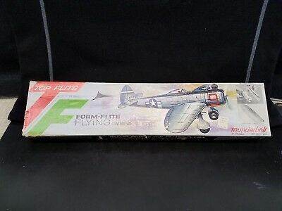 TOP FLITE Flying Balsa Wood Control Line Gas Model P-47 THUNDERBOLT #S-22 - RARE