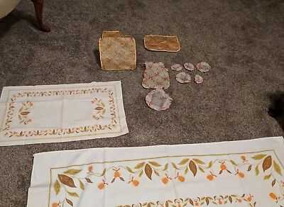 Lot of  Vintage JEWEL TEA Autumn Leaf Accessories