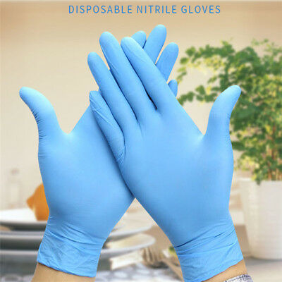 100pcs Disposable Gloves Food Grade Blue Butyronitrile Gloves for Tattooing