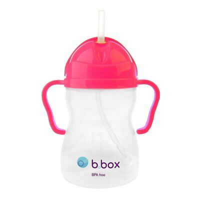 B.BOX Sippy Cup Pink Pom NEON Edition 6m+ 240ml Baby Toddler Drinking Bottle
