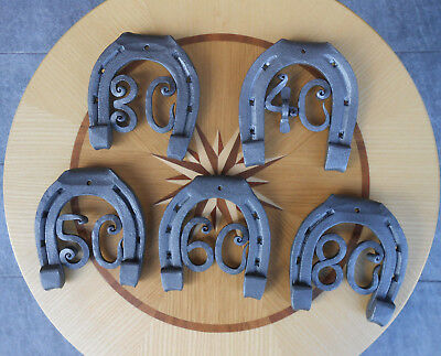Hand Forged Horseshoe Horse Shoe with Numbers Anniversary Gift