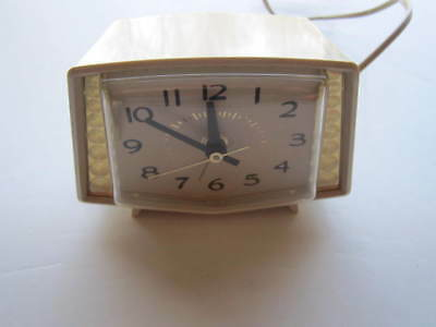 Vintage Electric Alarm Clock From General Electric—Easy To Read Numbers