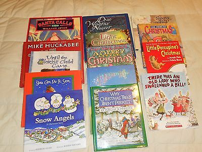 Lot of 14 Christmas Picture Books stories Children Santa Snow Angels Trees 615