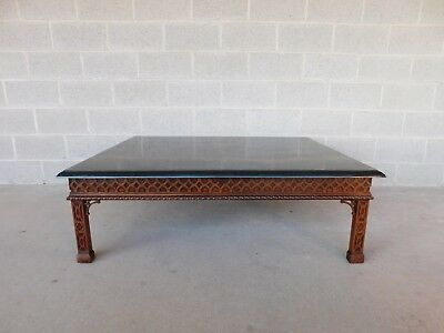 Maitland Smith Chinese Chippendale Tesated Stone Tail Table 50 W X