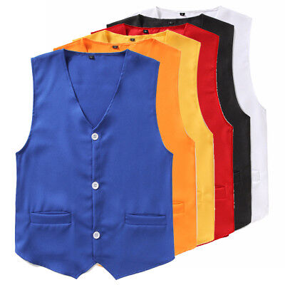Kids Boys Formal Waistcoat Vest Gentleman Party Choir Stage Performance Suits