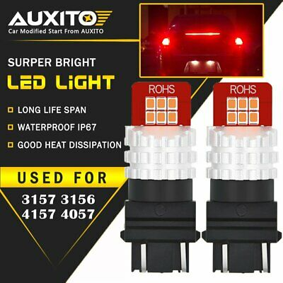 2X AUXITO 3157 3057R Brake Tail Light Bulb Red LED For Ram 1500 2500 3500 US EOD