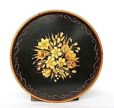 Antique Toleware Tray Hand Painted Metal Tray VINTAGE Decorative Tray
