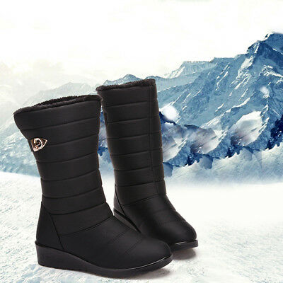 Womens Snow Boots Ladies Outdoor Waterproof Fur Lined Winter Warm Shoes 1 Pair