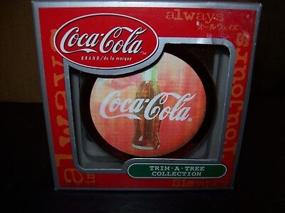 Coca-Cola Trim A Tree Santa Claus Halogram Christmas Ornament New In The Box