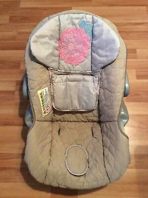 Baby Trend Flex Loc Infant Car Seat Cover Cushion Part Replacement Beige Pink