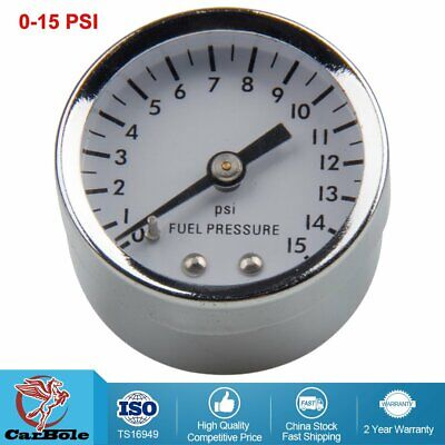 "26-504 Mechanical White Face 1.5"" Fuel Pressure Gauge, 0 - 15 PSI Liquid Filled"