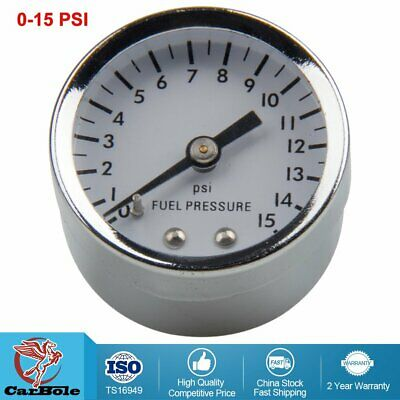 "Portable 26-504 Mechanical White Face 1.5"" Fuel Pressure Gauge, 0 - 15 PSI"