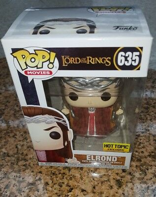 Funko Pop Movies #635 Elrond Lord of the Rings Hot Topic EXCLUSIVE SOLD OUT