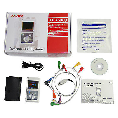 Hot Holter ECG 12 Channel 24H Dynamic Analyzer Recorder con software per PC,CE