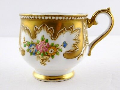 Royal Albert Crown China Royalty Tea Cup China Gold Floral Flower Design England