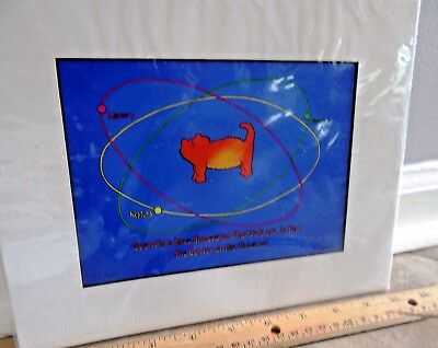 LIMITED EDITION REPRODUCTION MATTED ART CATS CENTER OF UNIVERSE K. Lawler