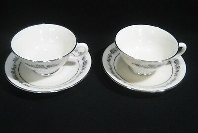 LENOX Fine China  PROMISE Pattern  2- CUP & SAUCER SETS  First Quality EXCELLENT