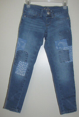 Justice Girls Patchwork Blue Jeans - Simply Low Jegging - Size 6 Slim