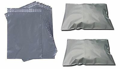 "500 - 9"" x 12"" Grey Mailer Plastic Postage Post Packing Postal Bags Special Off"