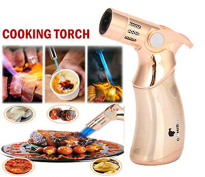 Blow Cooking Butane Torch 4 Flame Lighter Kitchen Refillable burner gas