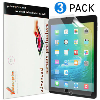 "3 PCS Screen Protector for iPad 4 5th 6th Gen Air  1/2 Mini Pro 9.7"" 10.5"" 12.9"""